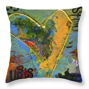 13 Of Hearts Stop Sign, Heartache Series. Throw Pillow