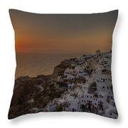 Oia - Santorini Throw Pillow