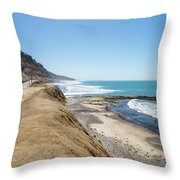 Pacific Ocean Big Sur Coatal Beaches And Landscapes Throw Pillow