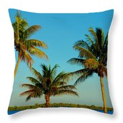 13- Palms In Paradise Throw Pillow