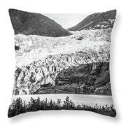 Panoramic View Of Mendenhall Glacier Juneau Alaska Throw Pillow