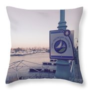 Racine Harbor Wisconsin  Throw Pillow