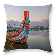 U Bein Bridge - Myanmar Throw Pillow