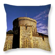 Windsor Castle England United Kingdom Uk Throw Pillow