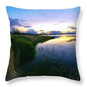 Nature Original Landscape Painting Throw Pillow
