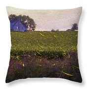 1300 - Fireflies Impression Version Throw Pillow