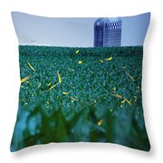 1306 - Fireflies - Lightning Bugs Over Corn Throw Pillow