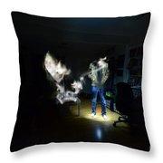 Light Painting Photography Throw Pillow