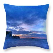Nature Landscape Graphics Throw Pillow