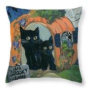 1313 Spooky Lane Throw Pillow