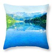 Nature Landscape Artwork Throw Pillow