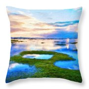 Nature Landscape Oil Painting Throw Pillow