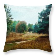 Nature Landscape Wall Art Throw Pillow