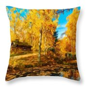Oil Painting Landscape Pictures Nature Throw Pillow