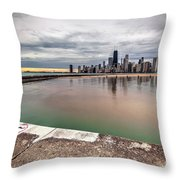 1323 A View From The Breakwall Throw Pillow