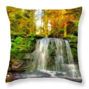 Nature Landscape Graphics Throw Pillow
