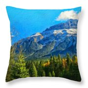 Nature Landscape Painting Throw Pillow