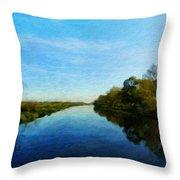 Nature Landscape Light Throw Pillow