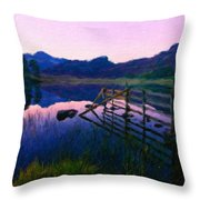 Nature Oil Painting Landscape Images Throw Pillow
