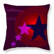 1340 Christmas 2018 Throw Pillow