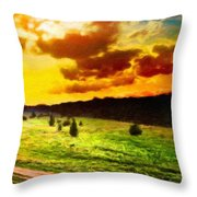 Nature Work Landscape Throw Pillow