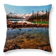 Nature Landscape Jobs Throw Pillow