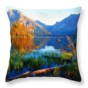 Landscape Paintings Canvas Prints Nature Art  Throw Pillow