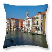 1399 Venice Grand Canal Throw Pillow