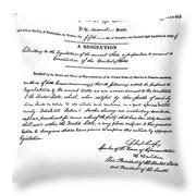13th Amendment, 1865 Throw Pillow