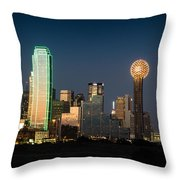 14-0905-141 Dallas Tx Skyline Throw Pillow