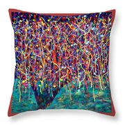14-26 Green Forest Tree Throw Pillow
