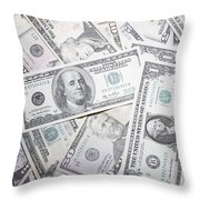 American Banknotes Throw Pillow