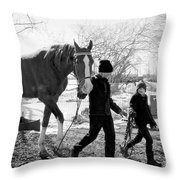 Amish Life Throw Pillow