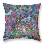 Birds Symphony Throw Pillow