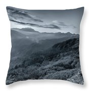 Chilly Winter Sunrise At Lunhgthang Sikkim West Bengal India Throw Pillow
