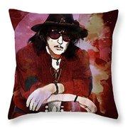 Deep Purple. Ritchie Blackmore. Throw Pillow