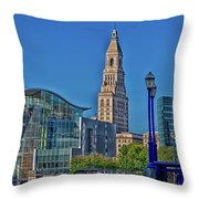 Downtown Hartford Throw Pillow