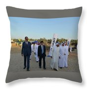 Dubai Travelers Festival Throw Pillow