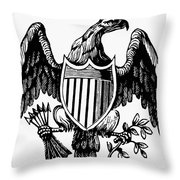 Eagle, 19th Century Throw Pillow