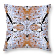 Floral Mural Throw Pillow