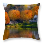 Framed Landscape Art Throw Pillow