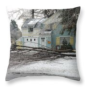 Ice Storm Throw Pillow