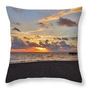 14- Juno Beach Pier Throw Pillow