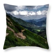 Landscape Poster Throw Pillow