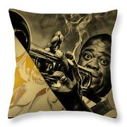 Louis Armstrong Collection Throw Pillow
