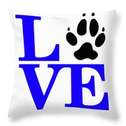 Love Claw Paw Sign Throw Pillow