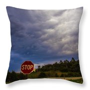 May Nebraska Storm Cells Throw Pillow