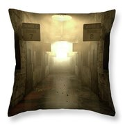 Mental Asylum Haunted Throw Pillow