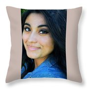 Native American Female. Throw Pillow