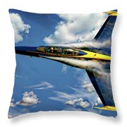 Navy Blue Angels Throw Pillow